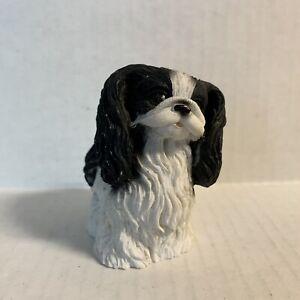 Dog Figurine Japanese Chin FLAW Vintage 90s
