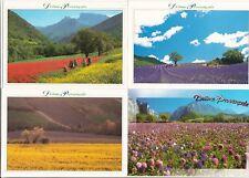 Lot 4 cartes postales DRÔME provençale neuves