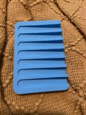 Flexible Bathroom Silicone Soap Dish Storage Holder Soapbox Plate Tray Drain Box