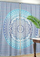 Bohemian Blue Ombre Mandala Indian Hippie Tapestry Wall Hanging Curtains Decor