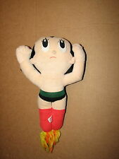 "Tezuka Bandai Astro Boy Atom Flying Plush Stuffed Doll Anime 1998 11"" 14"""