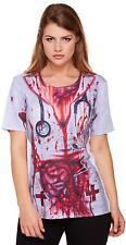 Adult Bloody Nurse Halloween Fancy Dress Costume Blood Horror & Guts Top V24 307