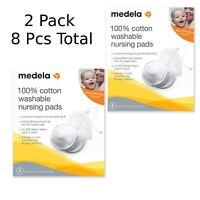 2 Boxes Medela 89972 100% Cotton Washable Nursing Pads 4 per box Total 8 Pads