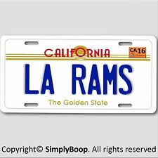 LA Los Angeles California RAMS NFL Football Team Aluminum Vanity License Plate