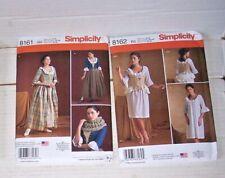 Lot 2 Simplicity Outlander Costume Patterns #8161-8162 Dress Corset Sz 6-14