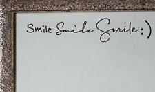 Smile :) Mirror Decal Sticker Inspirational Quote Vinyl Wall Door Decal