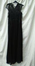 Vestido de fiesta BNWT Damas Ted Baker Lumina Maxi de Apliques de plumas Reino Unido 10, tamaño 2 (S)