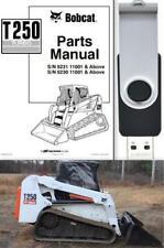 Bobcat T250 Turbo Compact Track Loader Parts Manual Usb Stick