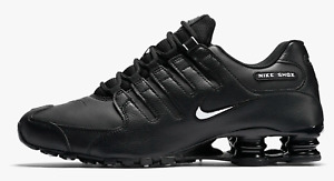 NIKE SHOX NZ EU MEN'S RUNNING SHOES Black White 501524 091 sz 8 ~ 13