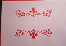 1125 Schablonen Ornamente Stanzschablone Shabby Wandtattoos Wandbild Stencils