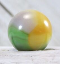 "Vintage Vitro Agate 4 Color Sweet Pea Aventurine Parrot .62"" Marble  #245"
