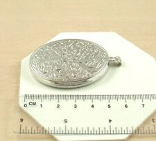 36mm Fully Embossed Oval Locket Only Sl063 Sterling Silver Extra Large 50mm X