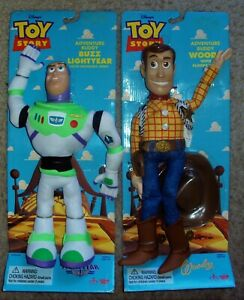 TOY STORY Thinkway WOODY Buzz Lightyear ADVENTURE BUDDY Dolls DISNEY Figure SET