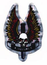 Skull & Dagger Suzuki Metallic Foil Sticker Motorcycles