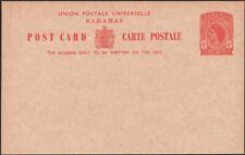 BAHAMAS, 1953. Post Card QEII H&G 17, Mint