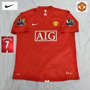Original Manchester United Football Shirt RONALDO 2007 Vintage Nike