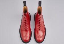 Trickers Stow Stivali al Polpaccio Rosso RARO suole Dainite GRANI UK7.5 EU41.5 BNWB RRP £ 425