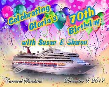 5x7 CUSTOM Cruise Door Magnet - BIRTHDAY ON YOUR CRUISE - Any Ship