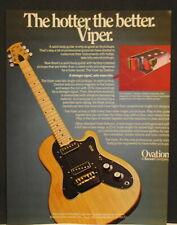 1978 Ovation Viper electric guitar print Ad