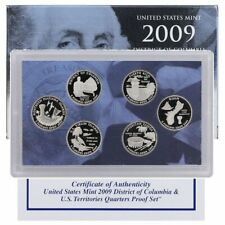2009-S U.S. MINT D.C. & TERRITORIES QUARTER (6) COIN PROOF SET