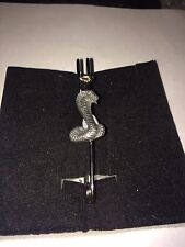 "Snake W10 Scarf , Brooch and Kilt Pin Pewter 3""  7.5 cm"