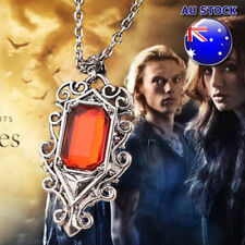 The Mortal Instruments City Of Bones Isabelle Ruby Stone Vintage Silver Cord Pen