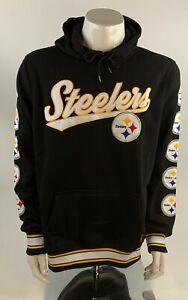 NFL Black Pittsburgh Steelers Hooded Sweatshirt with Graphics Size Medium