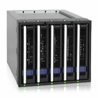 "Icy Dock MB155SP-B Ez-tray 5 X 3.5"" Sata Hdd Cage (mb155spb)"