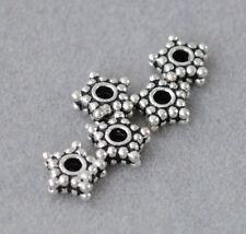 925 Silber Zwischenteile, Spacer Perlen, Altsilber, DIY Vintage Schmuck, Stern