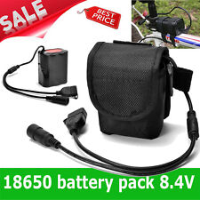8.4V USB Rechargeable 12000mAh 6X18650 Battery Pack For Bicycle light Bike Torch
