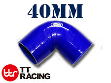 """Silicone 90 Degree Elbow Radiator Hose Pipe 40mm / 1.62"""" 3-ply"""