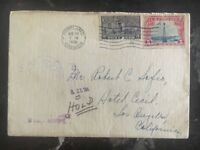 1928 Portland Or USA Special Delivery Cover To Hotel Cecil Los Angeles Ca Hold