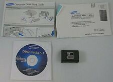 Samsung Accessories Manual + CDROM + Battery AS IS