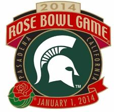 Official 2014 Rose Bowl Game Collectible Pin Michigan State Spartans