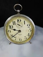 "Antique 1918-1935 WESTCLOX BIG BEN ""STYLE 1a""  Alarm Clock Nickel Finish"