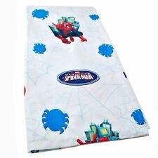 Marvel Kids Ultimate Spiderman Twin Size Flat Sheet Superhero Comics White Blue