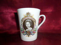 1977 HRH Queen Elizabeth II SILVER JUBILEE MUG Ashley Bone Royal Memorabilia