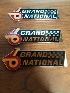 Buick Grand National 6 Fender and Trunk Badges emblems NOS New Old Stock