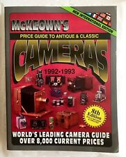 McKeowns PRICE GUIDE TO ANTIQUE & CLASSIC CAMERAS 8th Edition 1992-93 Softback