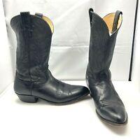 Vintage Nocona Black Leather Western Cowboy Rodeo Boots Mens Size 10.5D