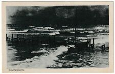 Ansichtskarte - Gewittersturm mit Boot - Verlag Zobler & Wilde - schwarz/weiß