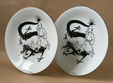 Axis Tintin Hergé plats porcelaine
