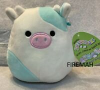 """SQUISHMALLOW COW BELENA 5 INCH EASTER 5"""" PLUSH KELLYTOY BLUE COW"""