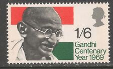 Great Britain #600 (A219) VF MNH 1969 1sh6p Mahatma Gandhi and Flag of India