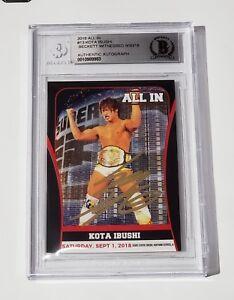 KOTA IBUSHI SIGNED 2018 ALL IN CARD #13 BAS COA NJPW ROH BULLET CLUB THE ELITE