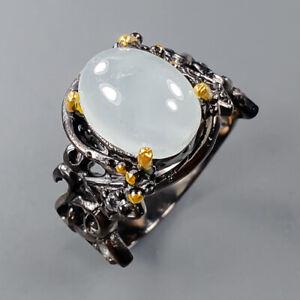Vintage Aquamarine Ring Silver 925 Sterling  Size 8.25 /R153697