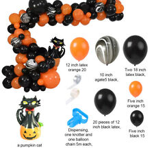 81PC Halloween Balloon Garland Kit Black Cat Theme Party Ballon Arches Decor Set