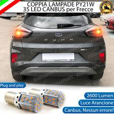 COPPIA LAMPADE PY21W BAU15S CANBUS 35 LED FORD PUMA 2 FRECCE POSTERIORI NO ERROR