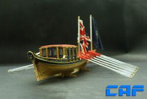 "HMS Barge Scale 1/48 10"" L 254mm royal British yacht Wooden Ship model kit"