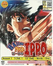 DVD Anime Hajime no Ippo Season 1-3 ( Vol. 1-127 End + Movie + OVA )